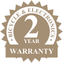 Two year industry leading warranty badge