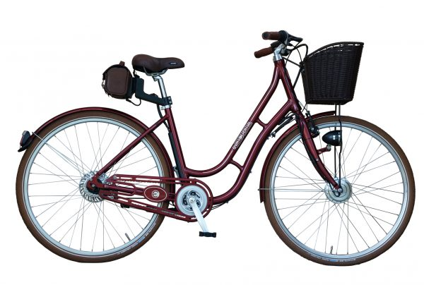 BATRIBIKE QUINTESSENTIAL | Classic Style - Vintage looks | Hidden Battery in saddlebag | Basket included