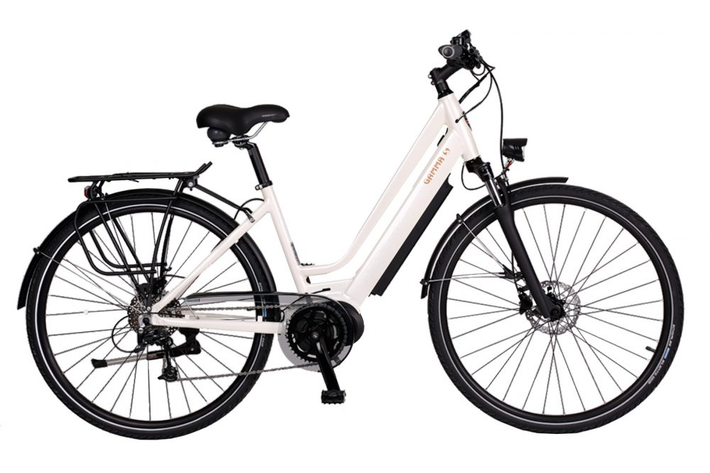 BATRIBIKE GAMMA-S | Step-Through style with Hidden Battery | High Torque Centre Motor | Stylish City Bike