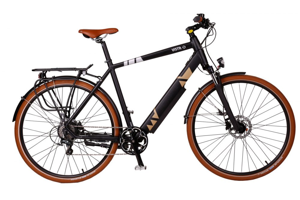 BATRIBIKE VISTA-X | Crossbar style with Hidden Battery | 10 Shimano gears | Shimano hydraulic disc brakes